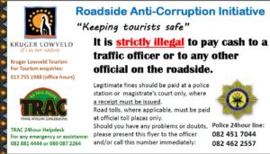 Visitenkarte der Roadside Anti-Corruption Initiative